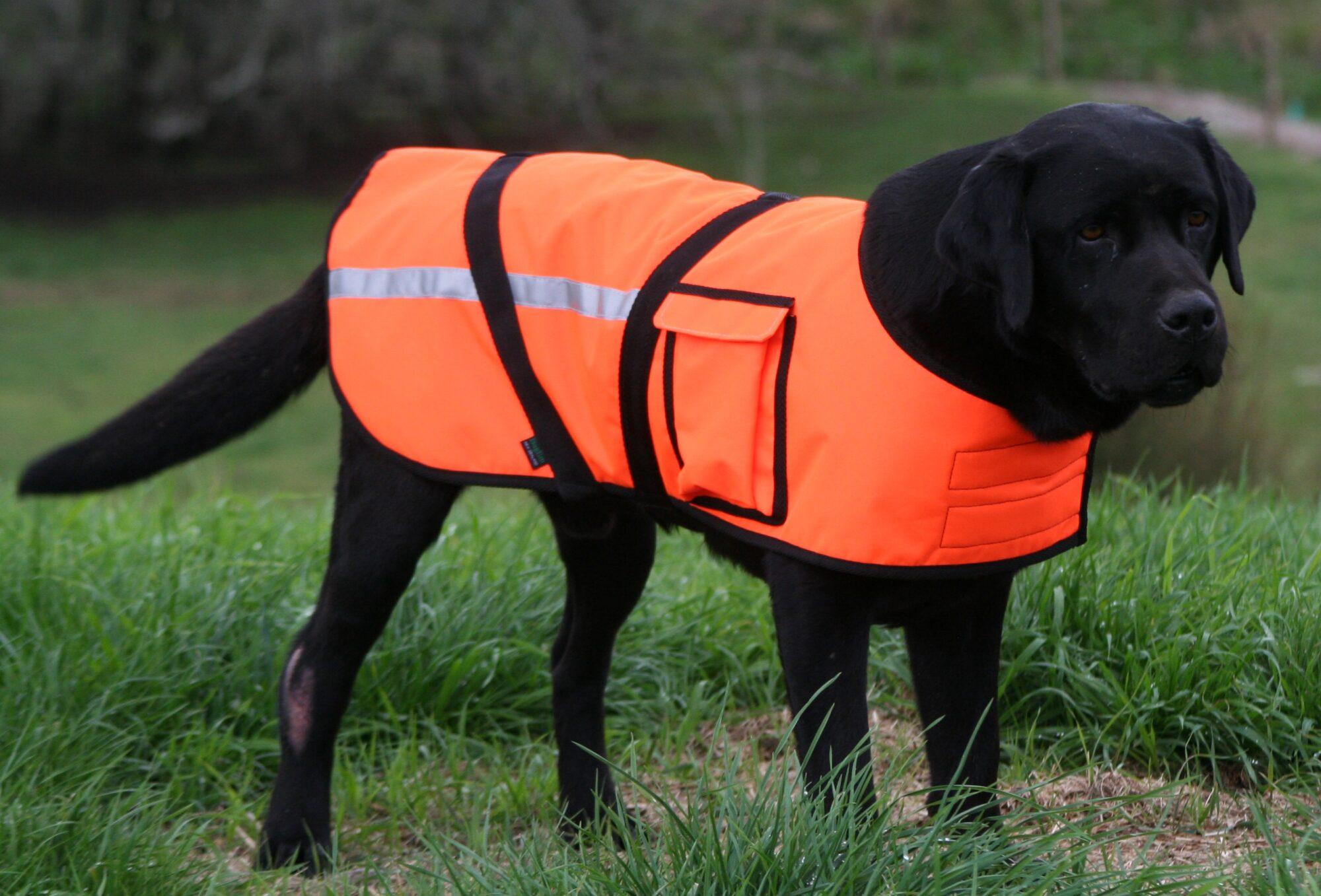 High Vis Custom Made Dog Jacket Dog Coat Lined Pockets