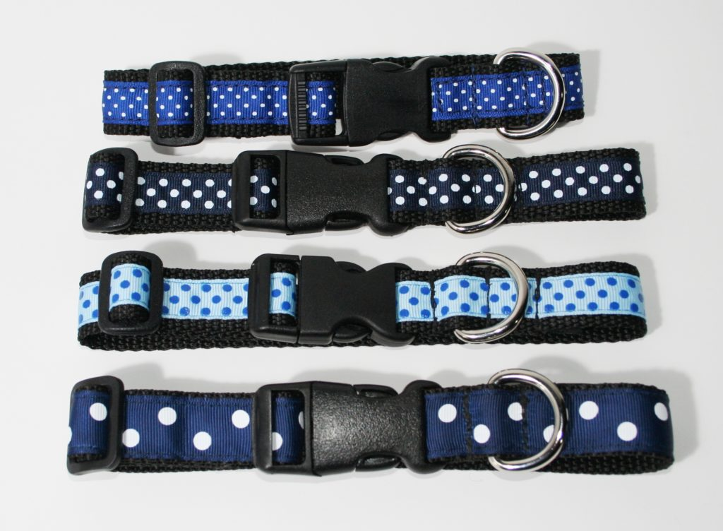 Blue designer dog collars